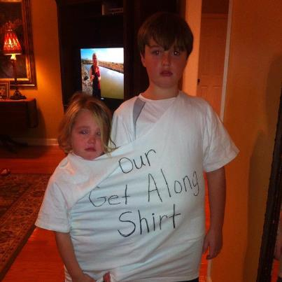 A creative use for a t-shirt.
